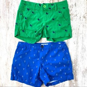 Nautical Embroidered Set of Chino Shorts 3 4